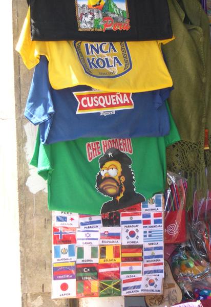 5531e97c6 Bogota - camiseta with Homer Simpson as Che Guevara